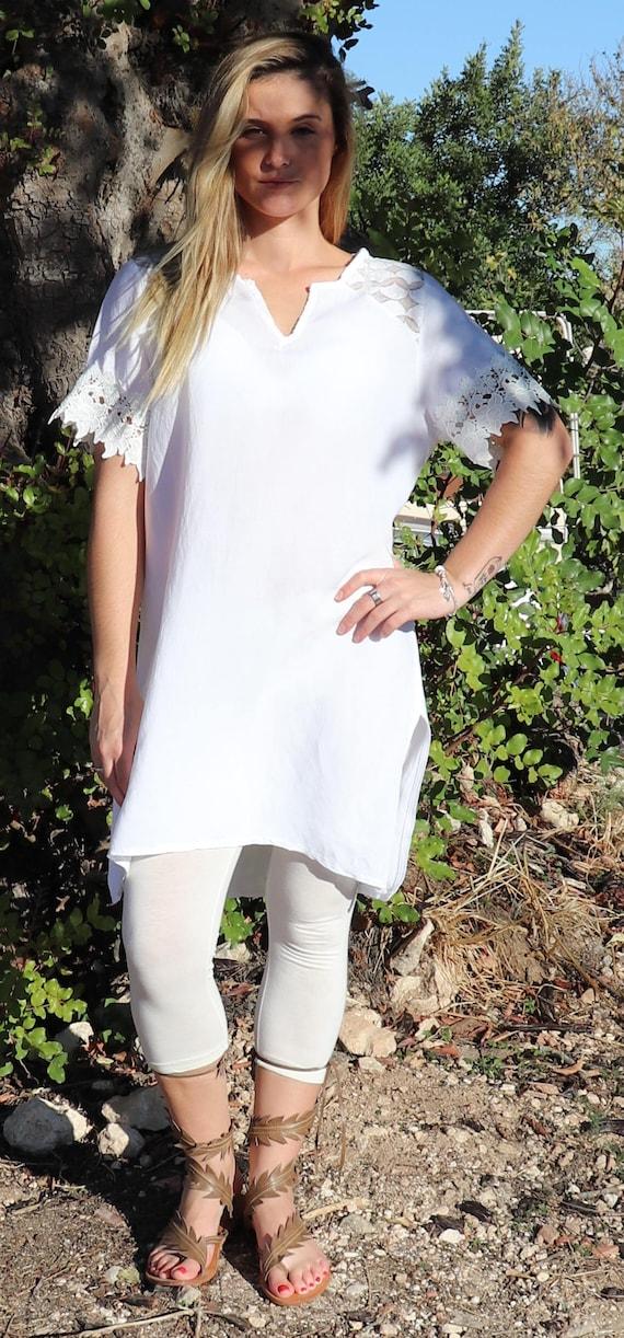 e36c9e83b5b Women Tunic Tops For LeggingsWomens Tunic DressLinen | Etsy