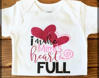 I Make Mimi's Heart Full Onesie