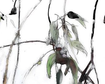 A2 Printable Wall Art, Modern Art, Gum Tree Print, Landscape Print, Australian Landscape, Downloadable Art, 4, Digital Art, Gift for Him
