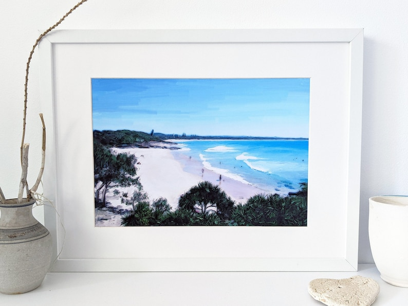 Digital beach wall art of Cabarita Headland 3 image 0
