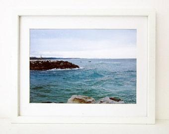 A4 Seascape Printable Art, Downloadable Art Print, Printable Wall Art, Australian Landscape Print, Digital Art, Gift for Men, Beach Decor