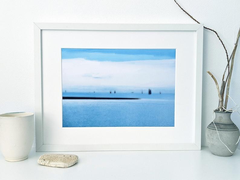 Downloadable digital art print of sailing boats on Moreton Bay image 0