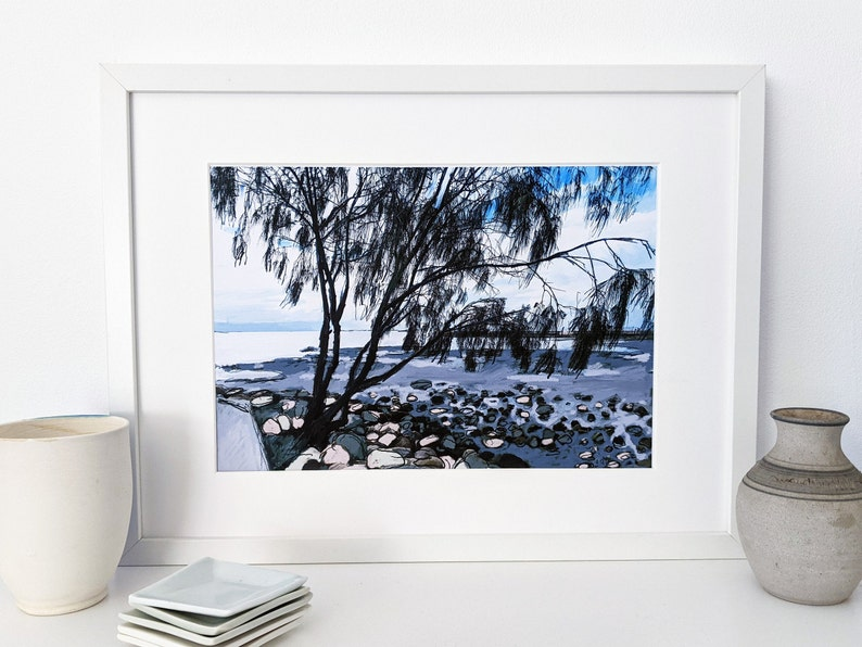 Downloadable digital art print of Wynnum foreshore image 0