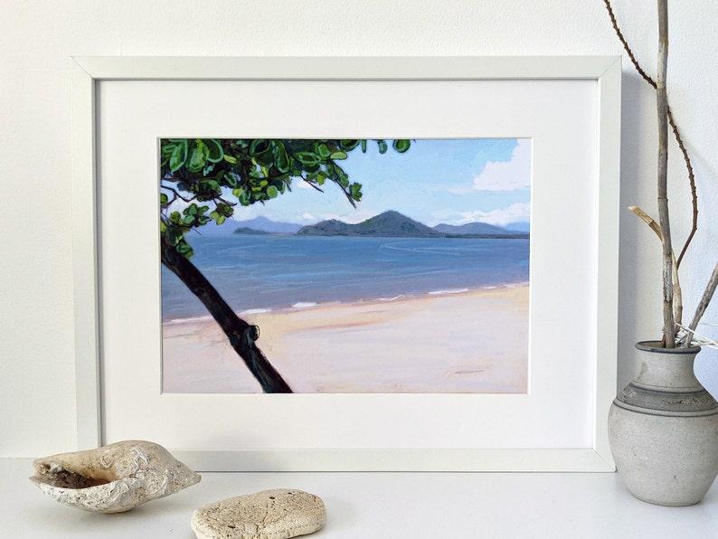 Printable wall art of Palm Cove beach scene image 0