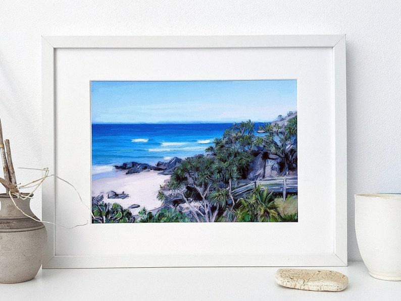 Digital beach wall art of Cabarita Headland 2 image 0
