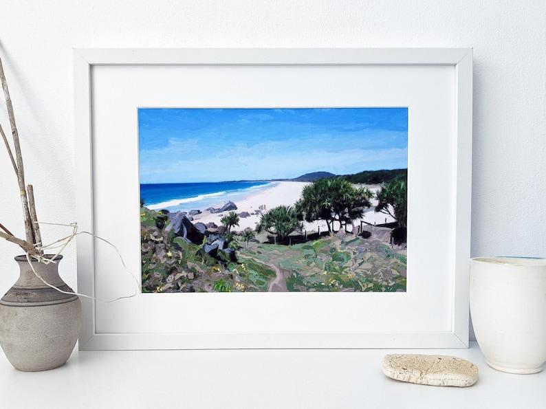Downloadable digital art print of Cabarita Headland 1 image 1
