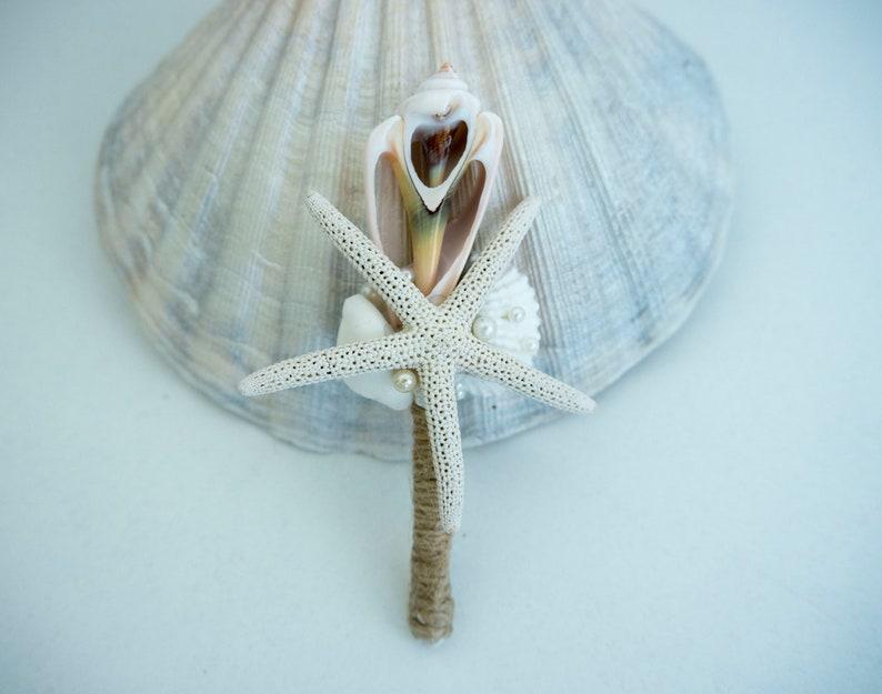 Seashell corsage mermaid Starfish  Boutonniere Grooms Accessories Beach Wedding Boutineer,Beach Wedding Boutonniere Beach boutonniere