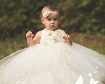 39e91c4ac Ivory Flower Girl Dress, Ivory Tutu Dress, Ivory Tulle Dress, Ivory Dress,  Ivory Wedding, Ivory, Flower Girl Dress, Tutu Dress, Tulle Dress