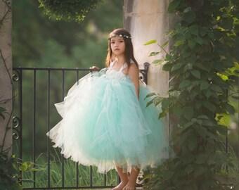 Mint Flower Girl Dress, Mint Tutu Dress, Mint Tulle Dress, Mint Dress, Mint Wedding, Mint Tutu, Mint