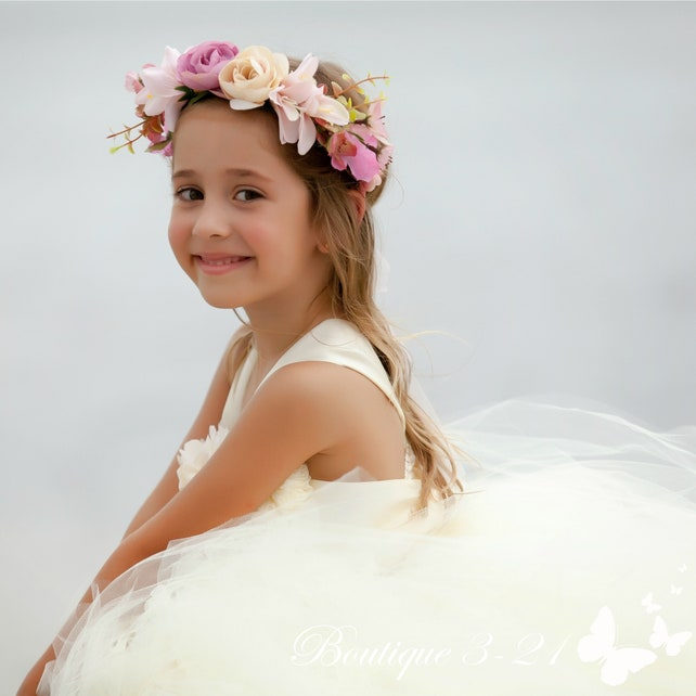 Ivory Flower Girl Dress / Ivory Tutu Dress / Ivory Tulle Dress / Ivory Dress / Ivory Wedding / Ivory