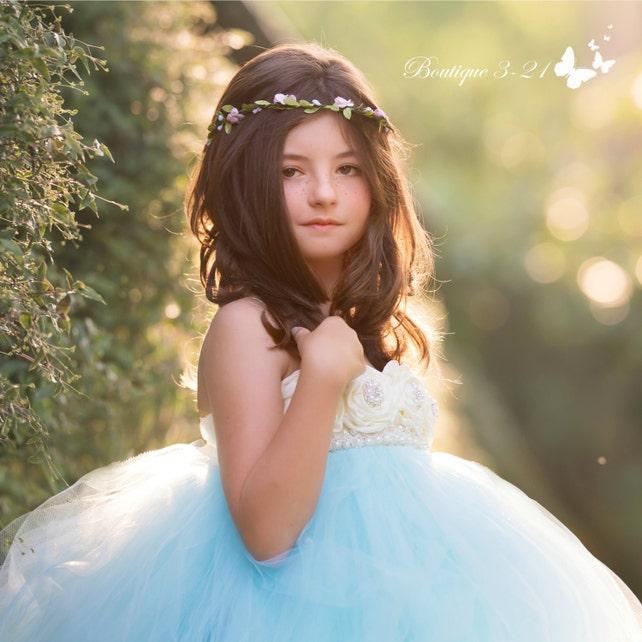 Baby Blue Tutu Dress / Baby Blue Tulle Dress / Baby Blue Dress / Baby Blue Wedding / Baby Blue / Baby Blue Flower Girl Dress