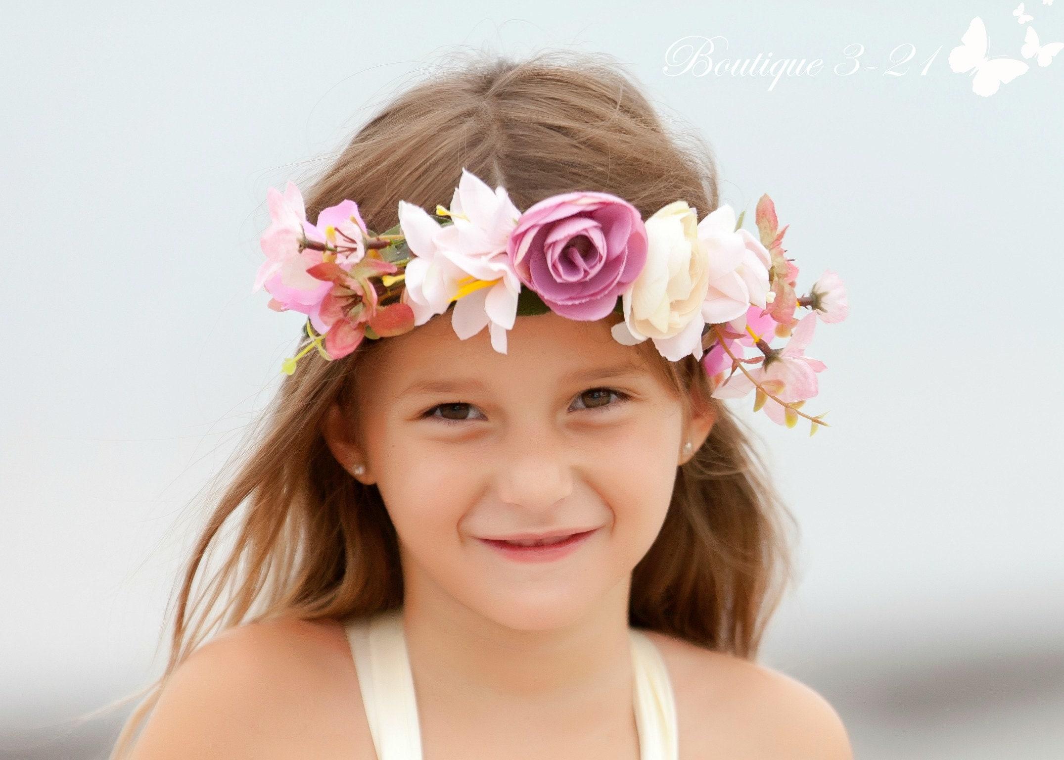 Child Flower Crown Flower Crown Wreath Bridal Flower Crown