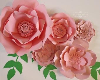 Pink paper flowers etsy large pink paper flowers pink paper flower centerpiece paper flower wall paper flower backdrop nursery decor reception decor mightylinksfo
