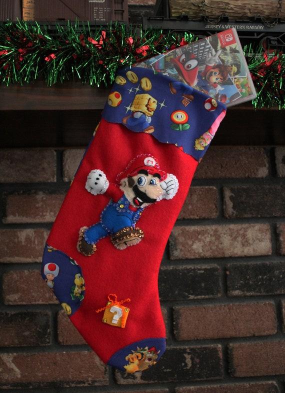 Super Mario Christmas Stocking.Super Mario Christmas Stocking