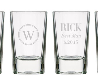 Personalized Square Shot Glasses or Dessert Glasses (per piece), 2.8 oz.