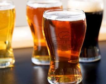 Personalized Engraved Beer Sampler Glasses (Set of 4)