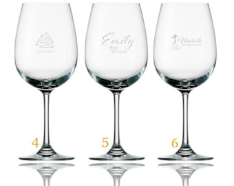 Personalized or Monogrammed Red or White Wine Glasses 15 oz.  (1 glass)