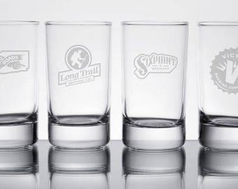 Set of 4 Personalized engraved Beer Sampler glasses (5 oz.)