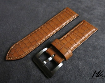 Hand made leather watch strap