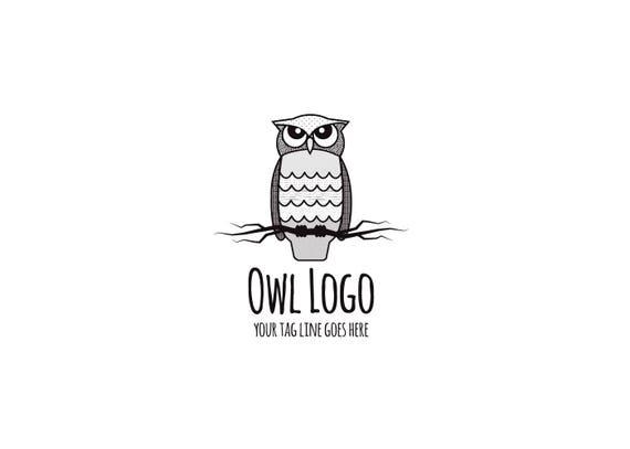 Muster-Eule-Logo vorgefertigtes Logo-Design | Etsy