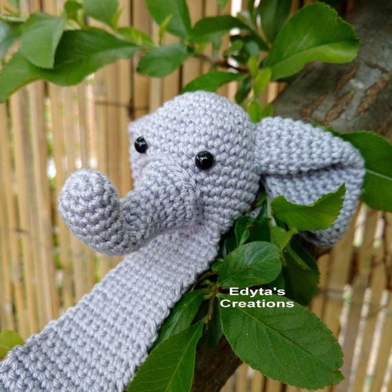 Amigurumi Crochet Elephant Bookmark | 570x570