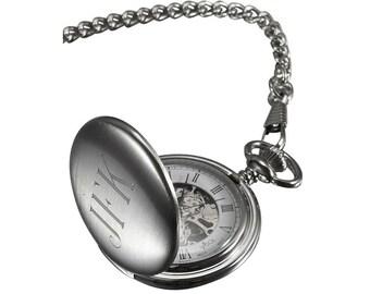 Engraved pocket watch   Etsy