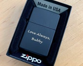 Zippo Lighter Personalized, Matte Finish Zippo Lighter Engraved, Groomsmen Gift, Fathers Day Gift, ,Birthday Gift, Anniversary Gift