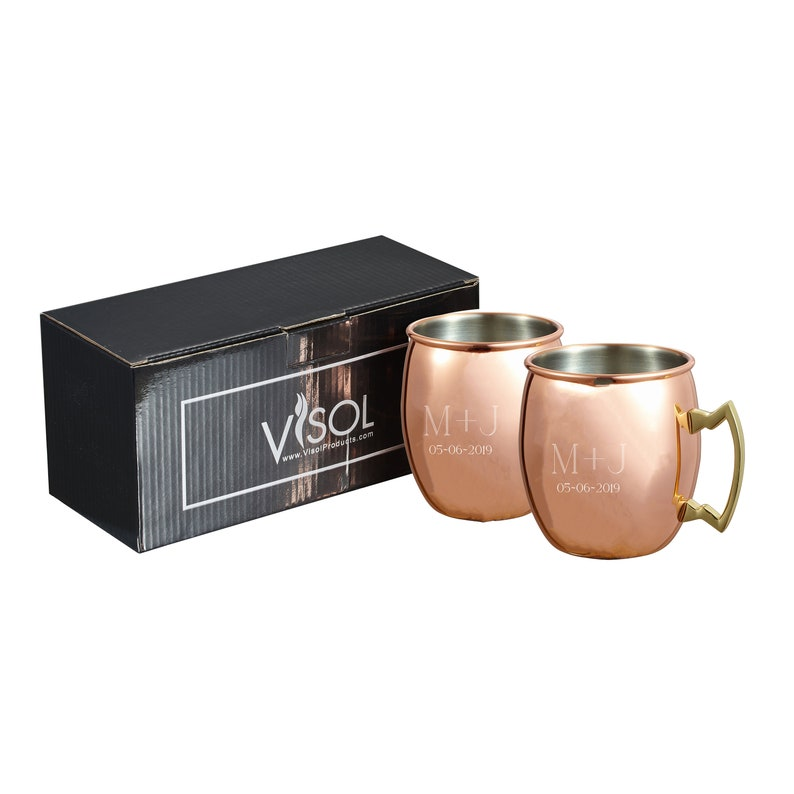 Moscow Mule Mug Set Personalized Mirror Finish Copper Moscow image 0