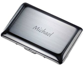 Engraved card holder etsy personalized business card case stainless steel business card case engraved business card holder colourmoves