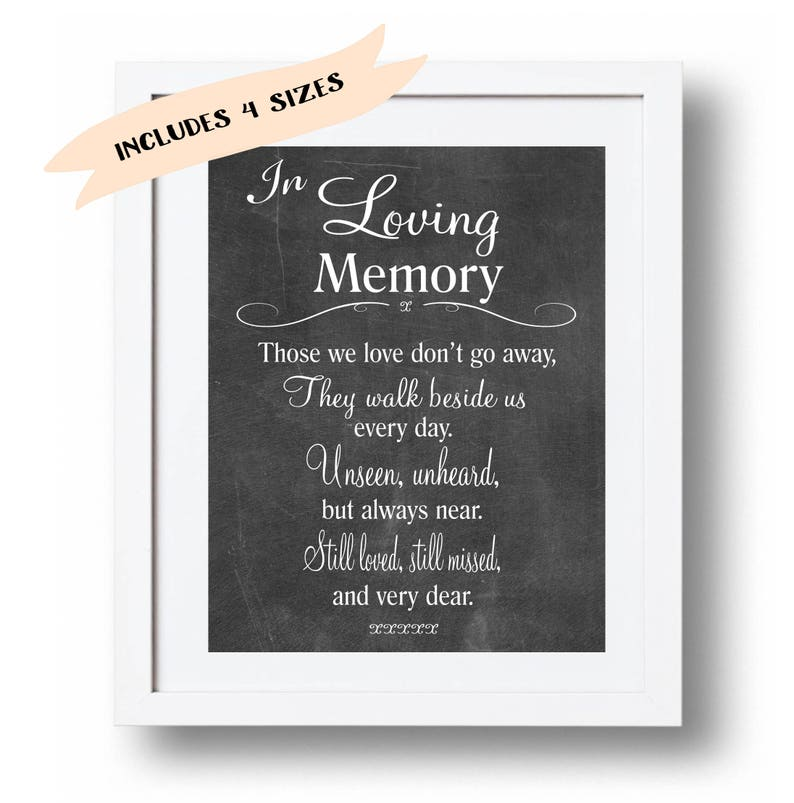 image about Closed Memorial Day Sign Printable known as Memorial signal printable Inside of loving memory print Wedding ceremony Memorial desk Memorial poem Individuals we take pleasure in dont transfer .. Memory indicator 5x7, 8x10 Down load