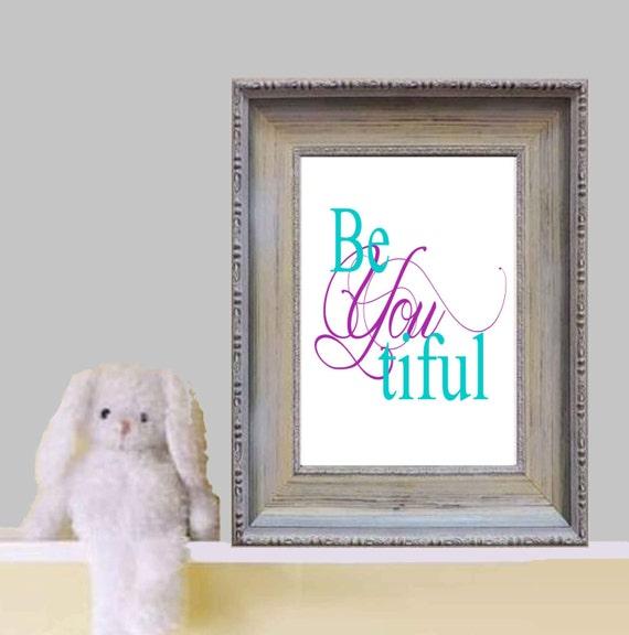 Girly Bedroom Items: Beyoutiful Printable Little Girl Bedroom Quote Print White