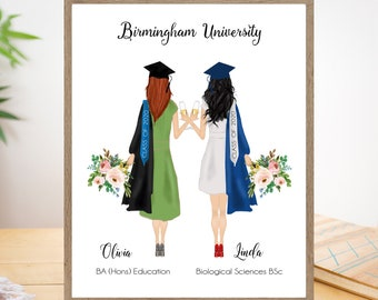 Personalized graduation gift for her 2020, High school graduation gift idea for best friend College grad gift Masters degree graduation gift