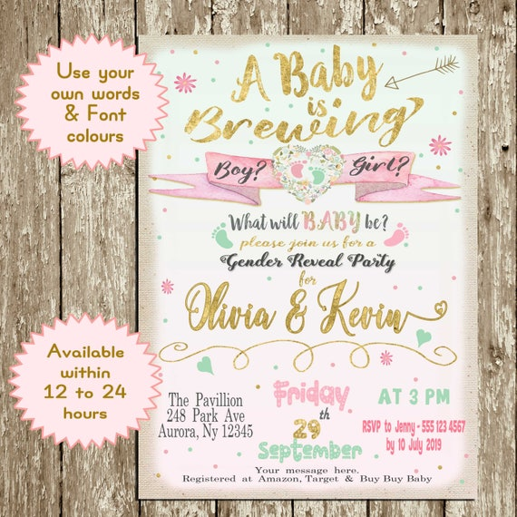 Gender Reveal Party Welcome Baby OH BABY! BABY SHOWER PASS THE PARCEL GAME