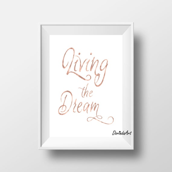 Rose Gold Quotes Prints Printable Rose Gold Wall Decor Etsy