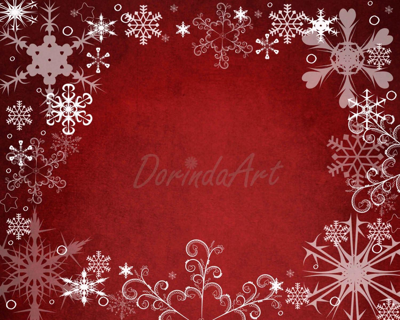 Rot-Schneeflocke Hintergrund Custom Weihnachten druckbare rot | Etsy
