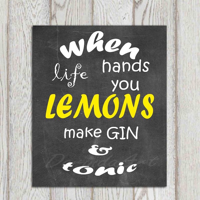 Black Yellow Kitchen Decor When Life Hands You Lemons Kitchen Etsy
