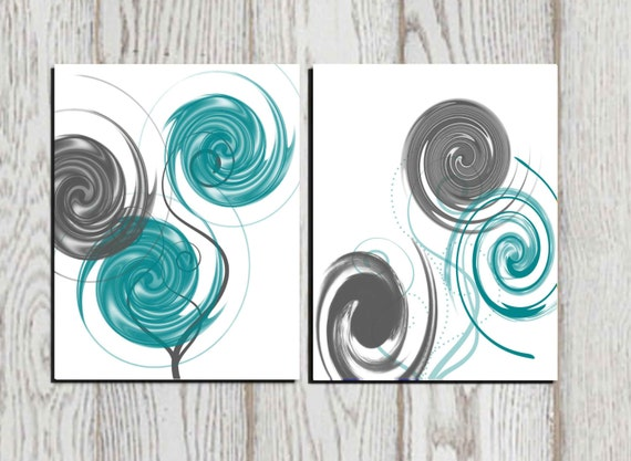 Merveilleux Abstract Art Abstract Print Gray Teal White Printable Home | Etsy