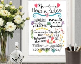Mothersday Gift Custom Grandma gift Custom Grandparent gift Personalized Grandma Gifts Personalized Nanny gift Nana gift Gift from grandkids