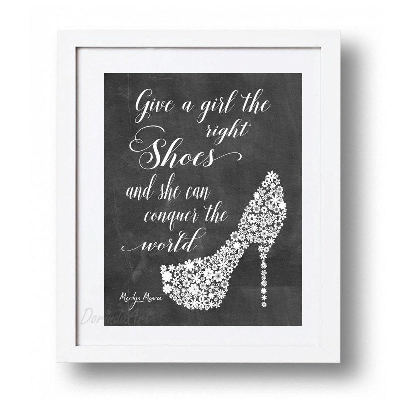 Marilyn Monroe Quote Printable Fashion Wall Art Poster Black Etsy
