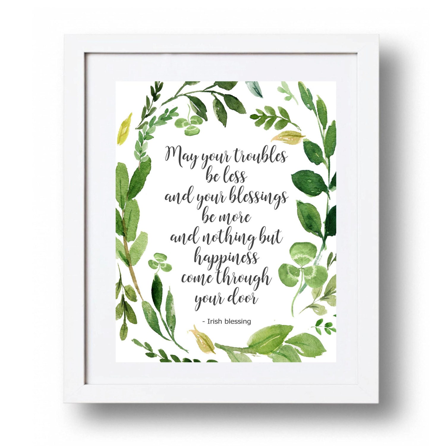 Irish blessing Printable decor Irish quote Irish print Green | Etsy