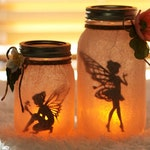 Fairy Jar - Fairy Lantern - Fairy Decor - Night Light - Nursery Decor - Wedding Centerpiece - Baby Shower Centerpiece - Luminary - Mason Jar