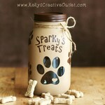 Dog Treats Jar - Pet Decor - Dog Gift - Mason Jar - Personalized Dog Treats Jar - Customized Dog Treats Jar - Customized Pet Gift
