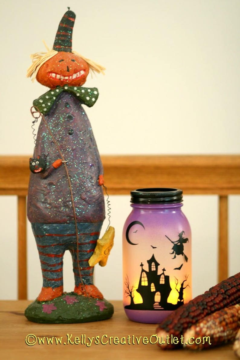 Witch Decor  Halloween Luminaries  Spooky Witch  Halloween image 0