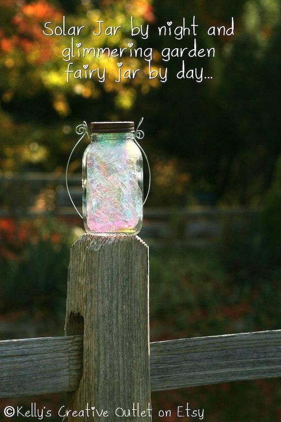 Mason Jar Lights Fairy Garden Solar Jar Lights Fairy | Etsy