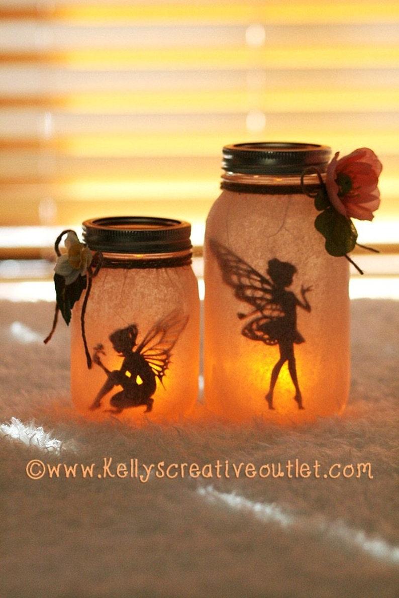 Fairy Jar  Fairy Lantern  Fairy Decor  Night Light  image 0