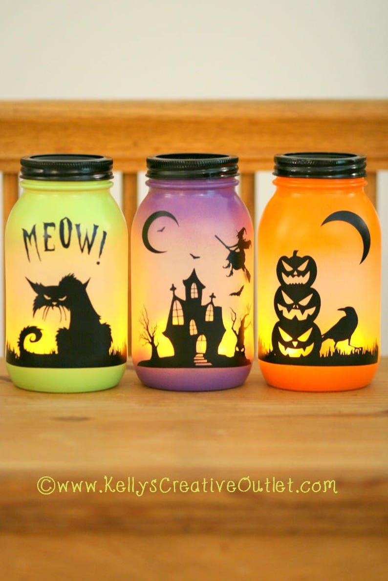 Halloween Decoration  Halloween Luminary  Spooky Decor  image 0