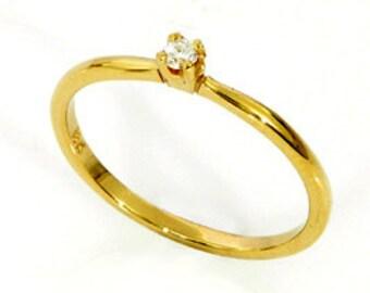 Diamond engagement ring-Tiny diamond ,0.05 ct ,VS-G/H,ring-Engagement ring-14 or 18k gold-Petite diamond ring.