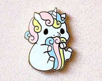 Rainicorn Unicorn Enamel Pin Adventure Rainbow Enamel Pins Bag Pins Lapel Pin Pins Pin Badge Pin Aesthetic Pins
