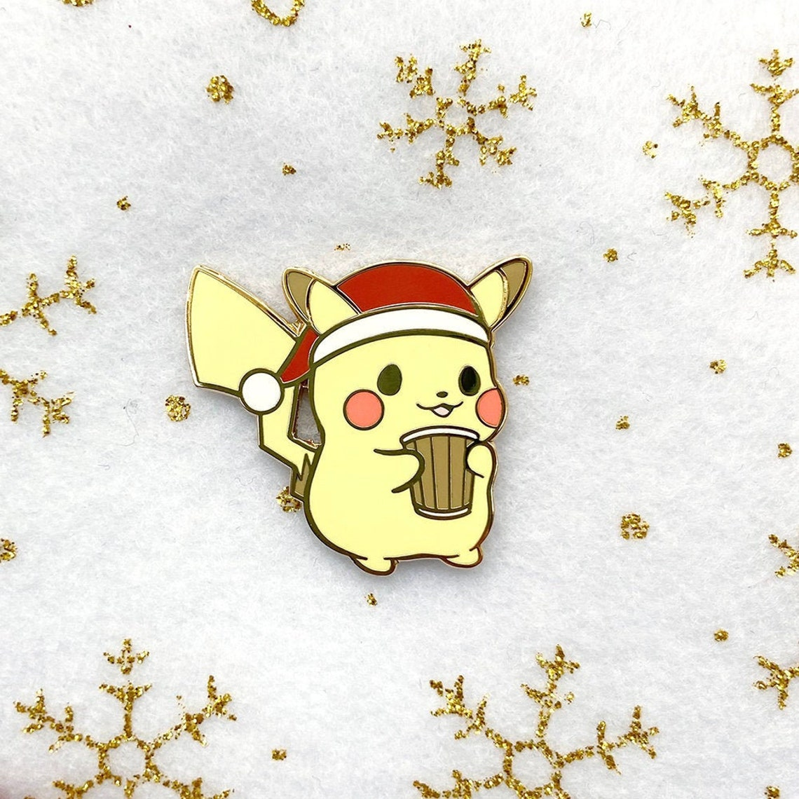Limited Edition Holiday Cute Coffee Addict Santa Pika Kawaii image 0