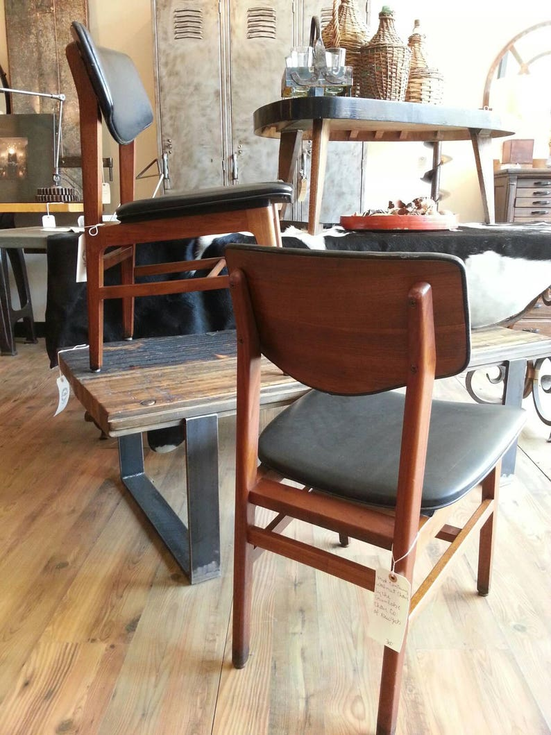 Midcenturey walnut chairs by the Gunlocke Co image 0